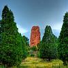 Garden of The Gods, Colorado.  HDR using three shot exposure, Pentax K-20, 50mm lens, 1/8, f/14, ISO 100.