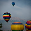 Annual Balloon Festival held in Colorado Spring.  Pikes Peak in the background