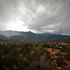Storm moving in over Pikes Peak and the surrounding mountains.