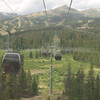Taking the gondola up to the chairlift area.