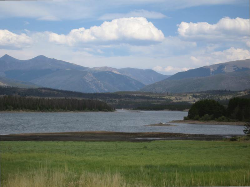 Dillon lake, in drought season--the shoreline has receded noticeably