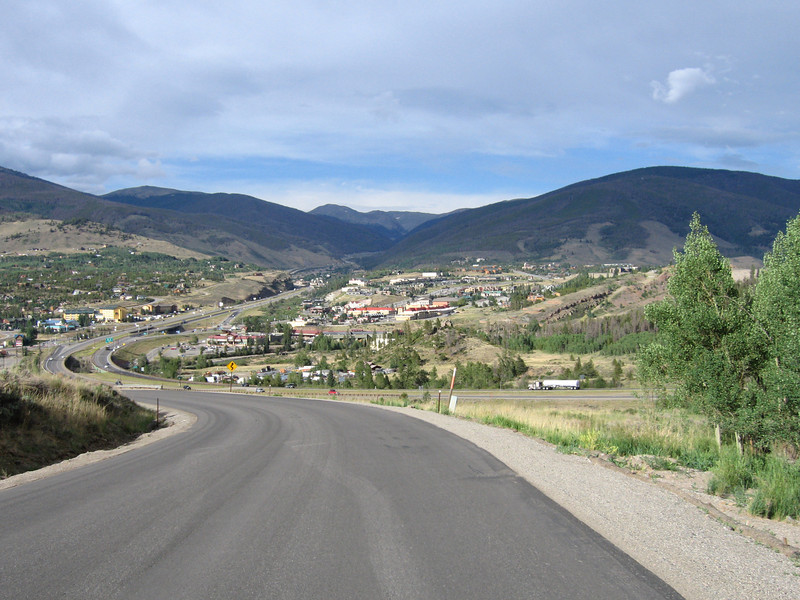 View of Silverthorne, coming down from Wildernest