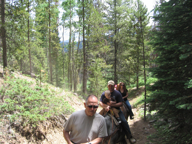 Cheri's dad (foreground) and rest of random group coming up the trail