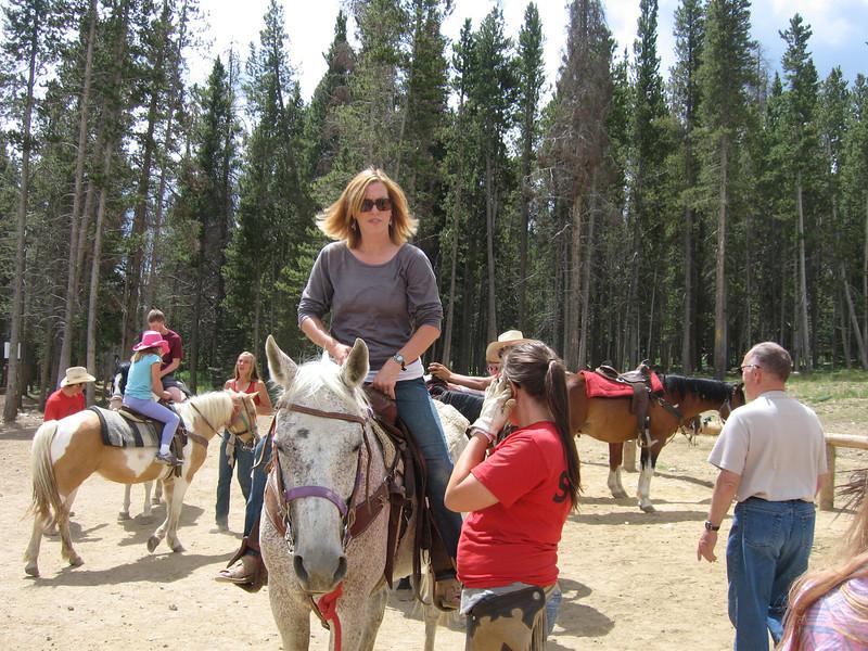 Cheri's sister Chris on horse
