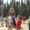 Cheri's sister Chris on horse