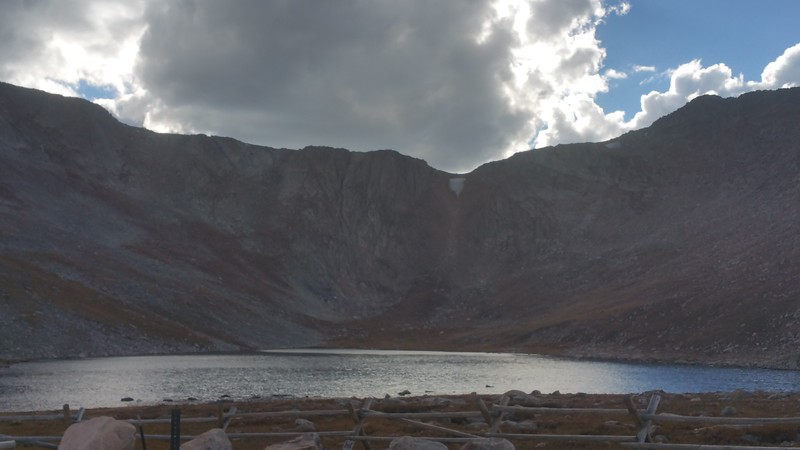 Lincoln Lake below Mount Evans (rest of road closed already for winter)
