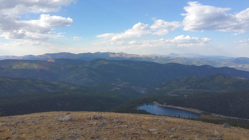 looking back down on Echo Lake