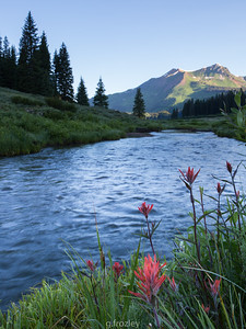 July on the East River with Mt. Belleview in arrears.  Gothic, CO