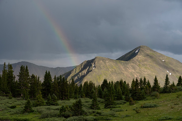 Last light and a rainbow off Cottonwood Pass.  Buena Vista, CO