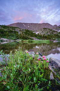 Mohawk Lake sunrise, Breckenridge, CO.
