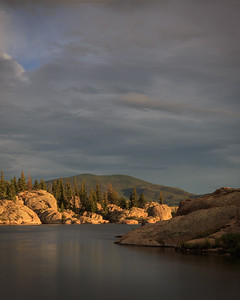 Long exposure sunset, Eleven Mile Reservoir, Lake George, CO
