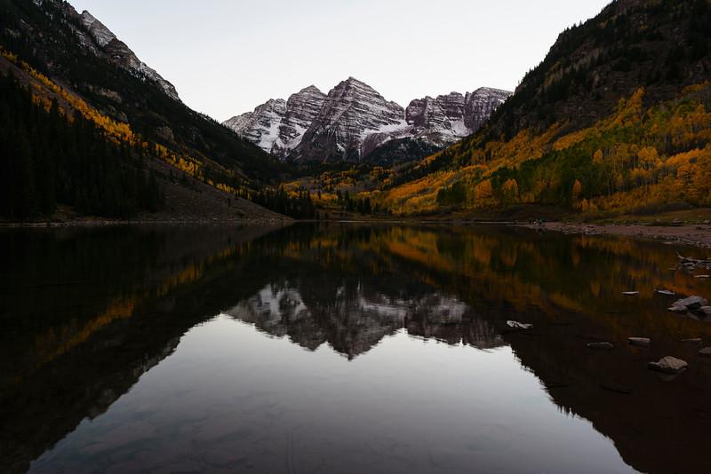 Post-sunset at Maroon Lake.  Aspen, CO