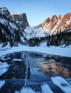 Dream Lake, Rocky Mountain National Park.  The day before, there was two feet of snow here.