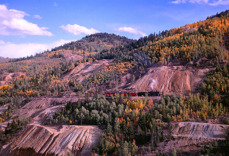CCRR 23 - Sep 15 1968 - train on grade below Central City COLO