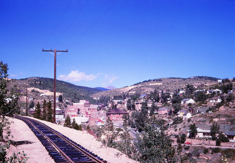 CCRR 16 - Aug 20 1968 - rail grade at Central City COLO