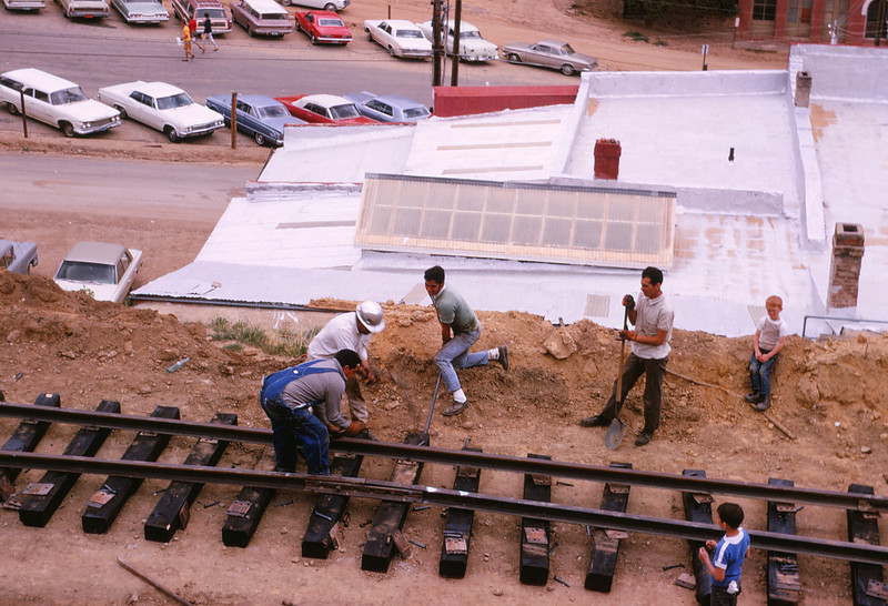 CCRR 4 - Jun 9 1968 - track construction @ Central City COLO