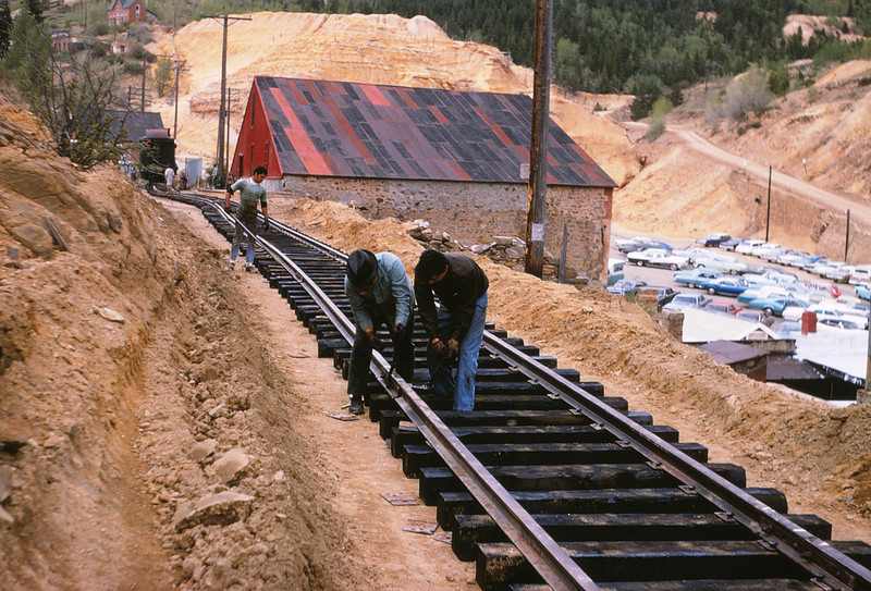 CCRR 6 - Jun 9 1968 - track construction @ Central City COLO