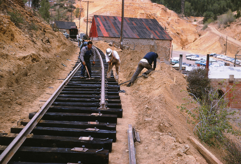 CCRR 5 - Jun 9 1968 - Track Construction @ Central City COLO