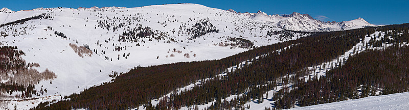 Siberia and Outer Mongolia Bowls, Vail Backside,<br /> Pete's Bowl, Blue Sky Basin<br /> March 1, 2011<br /> Vail, Colorado<br /> (3.7:1 aspect ratio)