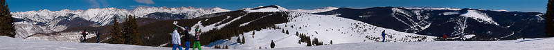 Gore Range, Front Side, Blue Sky Basin<br /> March 1, 2011<br /> Vail, Colorado<br /> (11:1 aspect ratio)