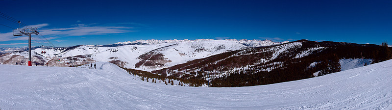 From along the Skyline Express in Blue Sky Basin,<br /> The Backside of Vail and Pete's Bowl<br /> March 1, 2011<br /> Vail, Colorado<br /> (3.6:1 aspect ratio)
