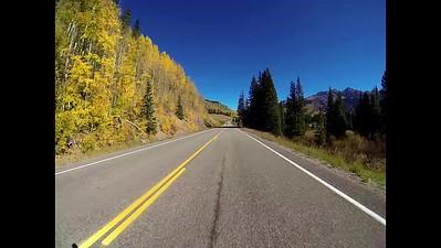 Driving past Trout Lake