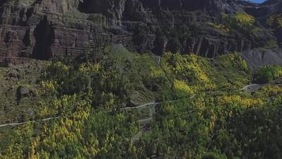 Fall colors above Telluride area