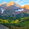 Alpen Glow on Maroon Bells, Colorado