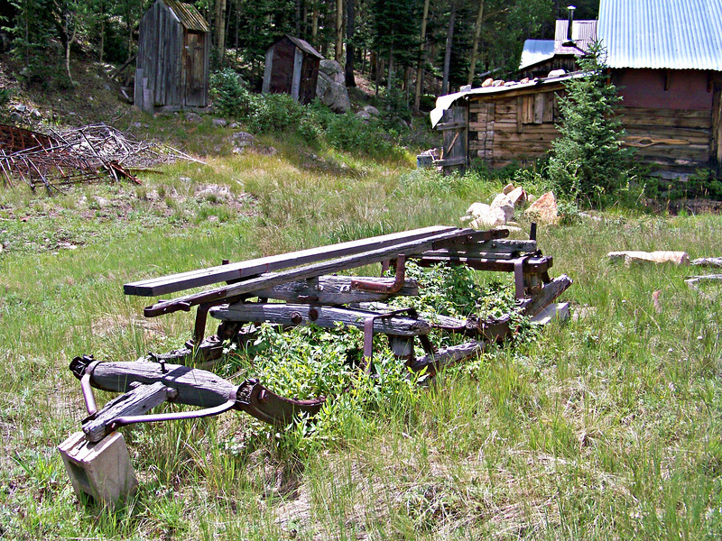 An ancient sleigh in St. Elmo, west of Buena Vista, Colorado.