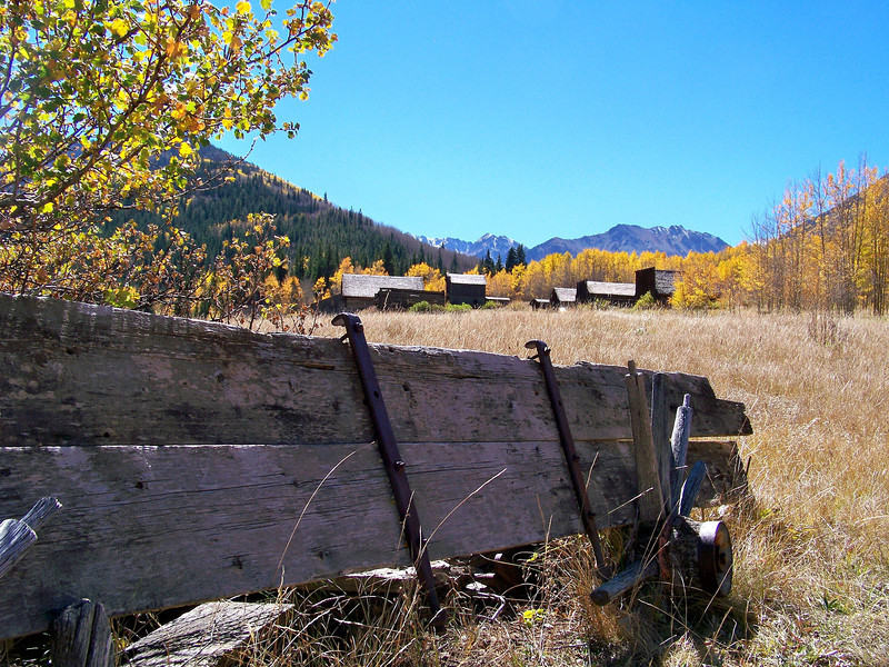 Remnants of an ancient stage coach outside Ashcroft, Colorado (est. 1880)