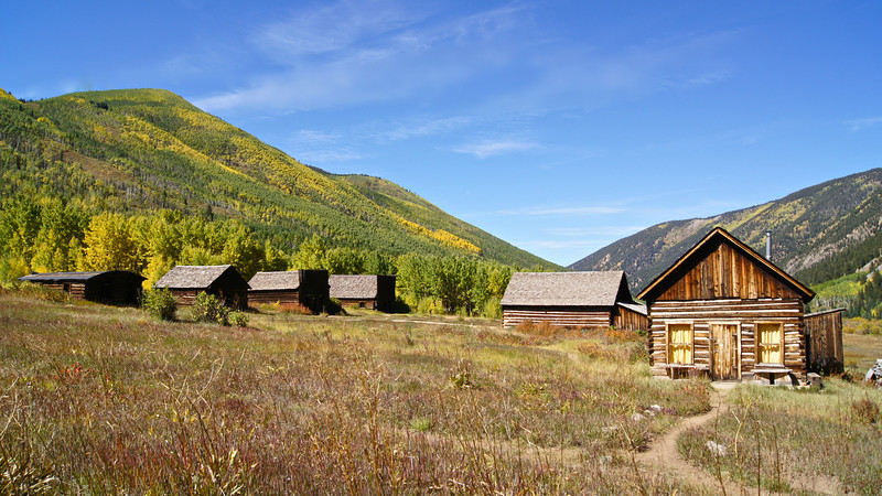 The once-bustling town of Ashcroft (founded c.1880), near Aspen, Colorado.