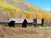"""Ghost"" cabins, saloons and stores still standing in Ashcroft, near Aspen, CO."