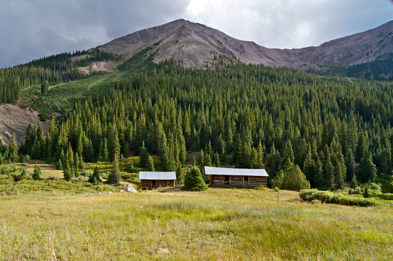 Luxurious miner's cabins in Independence, Colorado (founded c.1880).