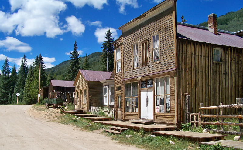 The St. Elmo Post Office (founded c.1878) west of Buena Vista, Colorado.