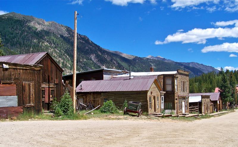 """""""Main Street,"""" St. Elmo (c.1878), west of Buena Vista, Colorado."""