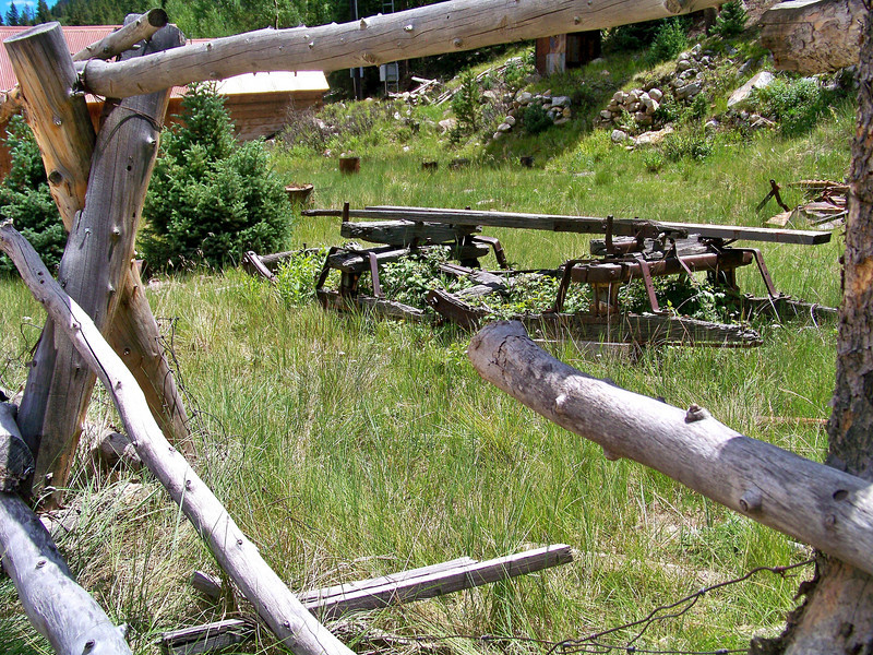 This old sleigh sits parked in a St. Elmo yard, west of Buena Vista, Colorado.
