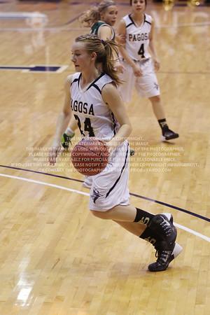 LRDE0941 Pagosa Springs High School Girl's Varsity Basketball vs Manitou Springs March 13, 2014