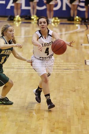 LRDE0971 Pagosa Springs High School Girl's Varsity Basketball vs Manitou Springs March 13, 2014