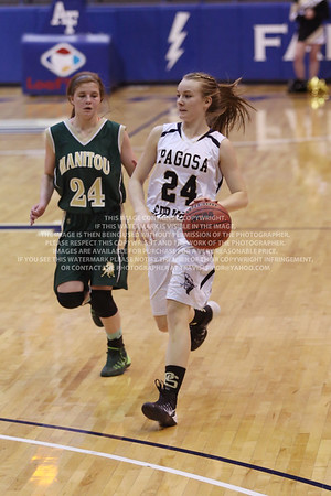 LRDE0954 Pagosa Springs High School Girl's Varsity Basketball vs Manitou Springs March 13, 2014