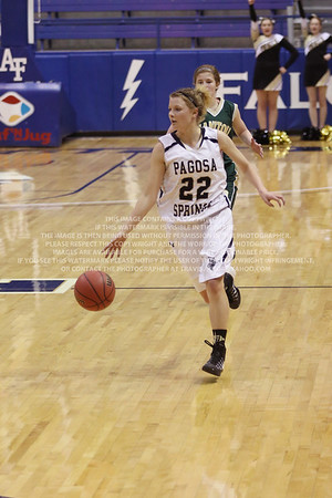 LRDE0936 Pagosa Springs High School Girl's Varsity Basketball vs Manitou Springs March 13, 2014