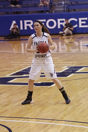 LRDE0965 Pagosa Springs High School Girl's Varsity Basketball vs Manitou Springs March 13, 2014