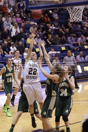 LRDE0961 Pagosa Springs High School Girl's Varsity Basketball vs Manitou Springs March 13, 2014