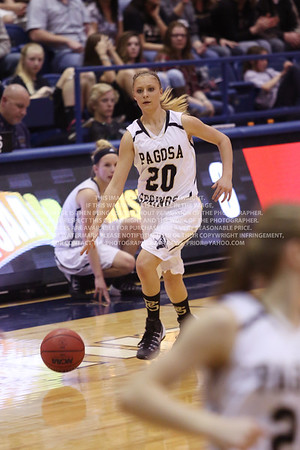 LRDE0945 Pagosa Springs High School Girl's Varsity Basketball vs Manitou Springs March 13, 2014