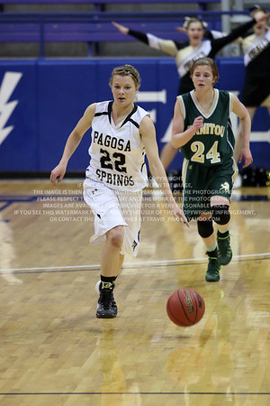 LRDE0933 Pagosa Springs High School Girl's Varsity Basketball vs Manitou Springs March 13, 2014
