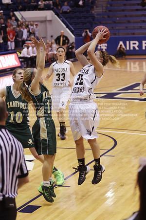 LRDE0938 Pagosa Springs High School Girl's Varsity Basketball vs Manitou Springs March 13, 2014