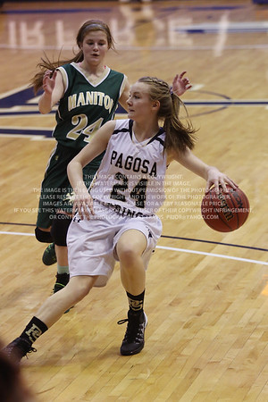 LRDE0955 Pagosa Springs High School Girl's Varsity Basketball vs Manitou Springs March 13, 2014