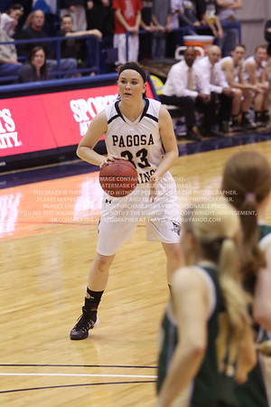 LRDE0948 Pagosa Springs High School Girl's Varsity Basketball vs Manitou Springs March 13, 2014