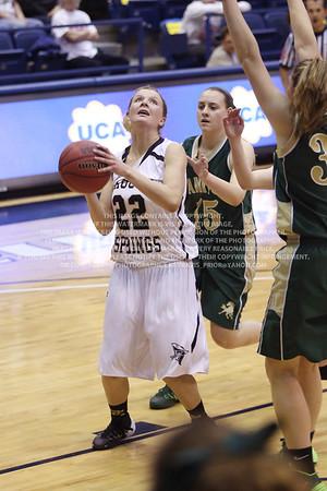 LRDE0960 Pagosa Springs High School Girl's Varsity Basketball vs Manitou Springs March 13, 2014