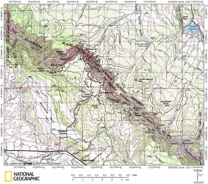 black canyon of the gunnison map