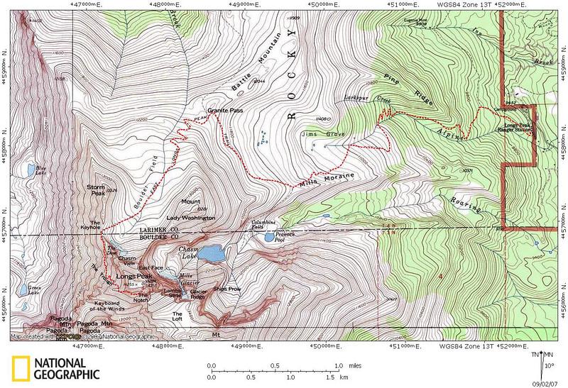 Longs Peak 14255 Colorado 082607 KathyWing